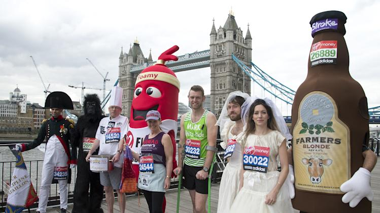 London Marathon - Guinness World Record Attemptees - Photocall