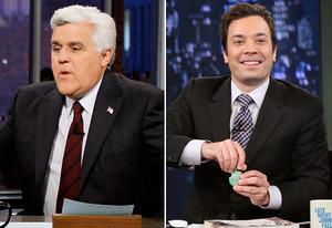 Jay Leno, Jimmy Fallon | Photo Credits: NBC