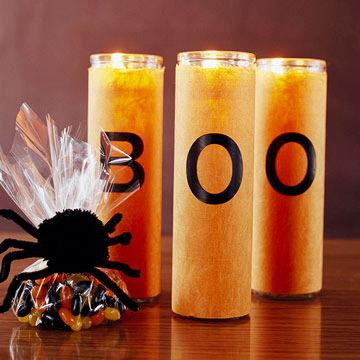 Spooky Pillar Candles