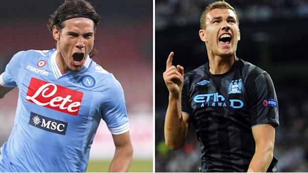 Premier League - Napoli propose Cavani-Dzeko swap with Man City