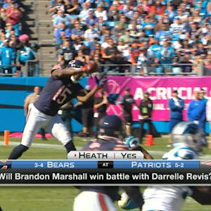 Who will win New England Patriots cornerback Darrelle Revis, Chicago Bears wide receiver Brandon Marshall duel?