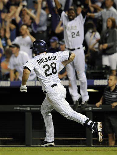 Arenado's solo HR in 9th lifts Rockies to 10-9 win