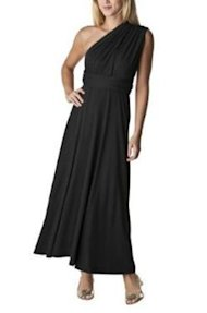 convertible maxi dress black Target