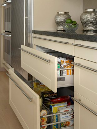 Use drawer organizers to store more