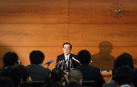 Outgoing Bank of Japan Governor Masaaki Shirakawa speaks during his last news conference as head of the central bank, in Tokyo March 19, 2013. REUTERS/Yuya Shino