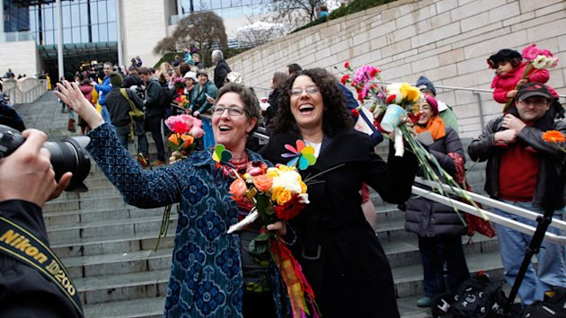 Washington Celebrates First Same-Sex Weddings (ABC News)