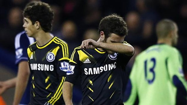 Chelsea&#39;s Juan Mata reacts after their English Premier League match against West Bromwich Albion at The Hawthorns (Reuters)