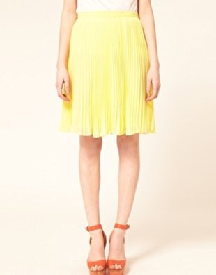 Knee-Length Yellow Skirt