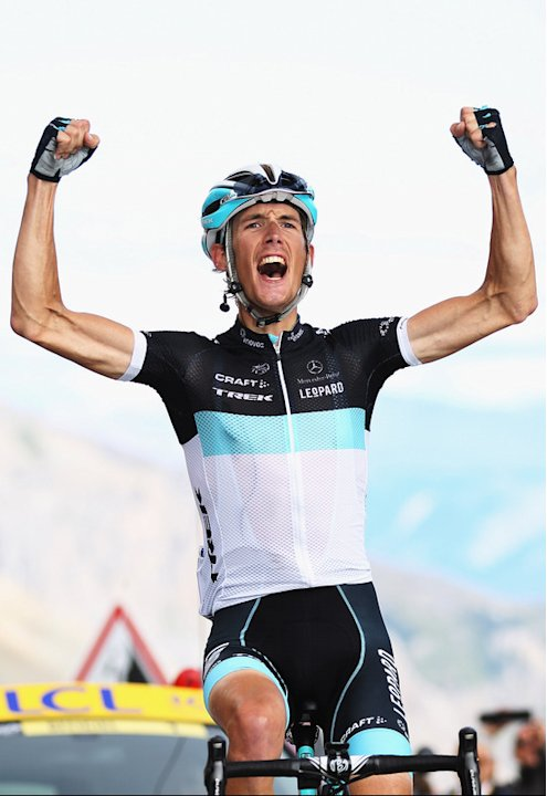 )   Andy Schleck Of Luxembourg And Team Leopard-Trek Celebrates Getty Images