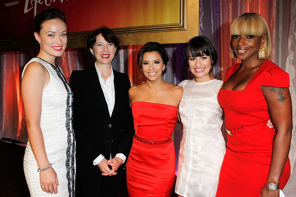 3rd Annual Women in Power Luncheon 2011 Olivia Wilde Annette Bening Eva Longoria Lea Michelle Mary J. Blige