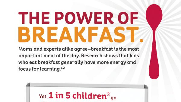 IMAGE DISTRIBUTED FOR KELLOGG'S - Kellogg's Share Breakfast Program to Share One Million Breakfasts with Children in Need During National Breakfast Week, March 4 – 8. (Kellogg's via AP Images)