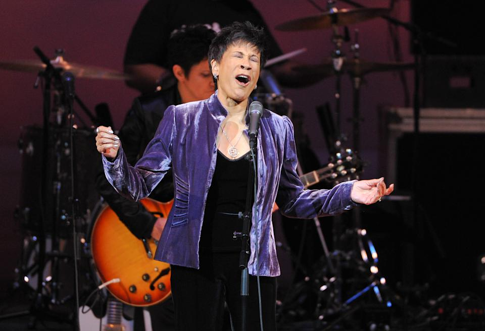 "Singer Bettye Lavette performs at ""The Music of Prince"" tribute concert at Carnegie Hall on Thursday March 7, 2013 in New York. (Photo by Evan Agostini/Invision/AP)"