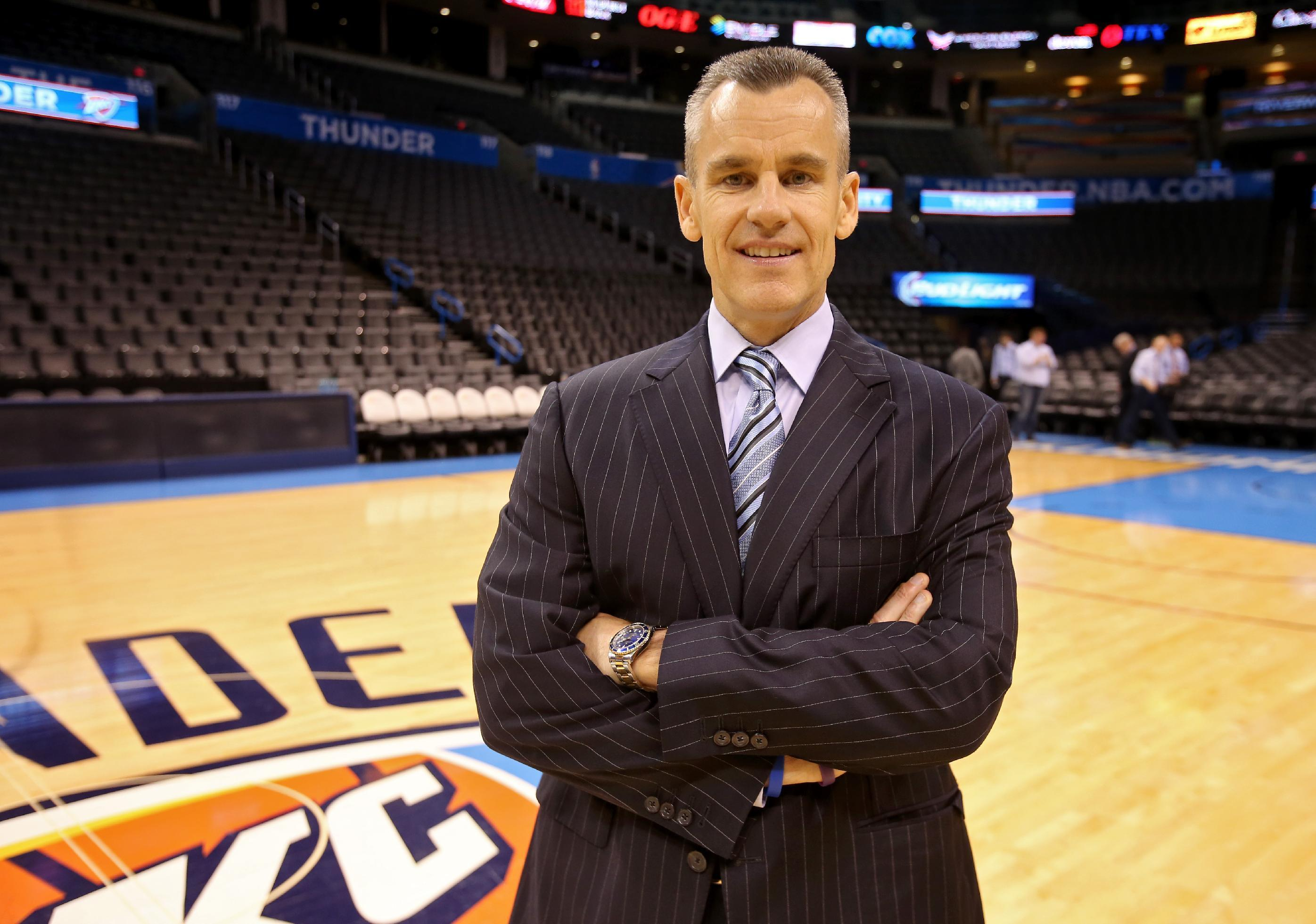 Thunder introduce new coach Billy Donovan
