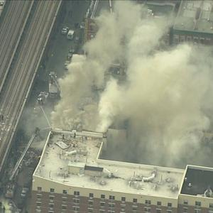 Explosion and buildings collapse in New York City