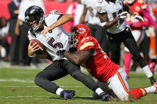 Harbaugh: Ravens didn't have 'A-game' vs Chiefs
