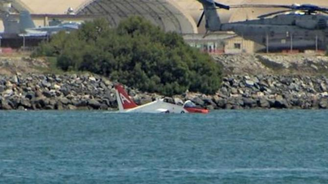 Navy pilot ejects from training jet into San Diego Bay