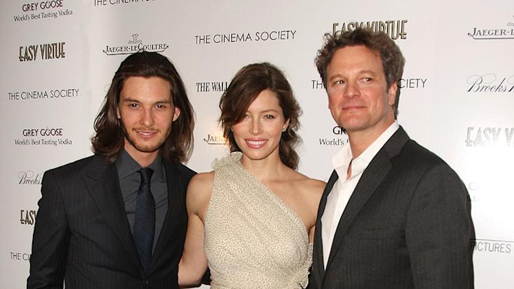 Easy Virtue NY Screening 2009 Ben Barnes Jessica Biel Colin Firth