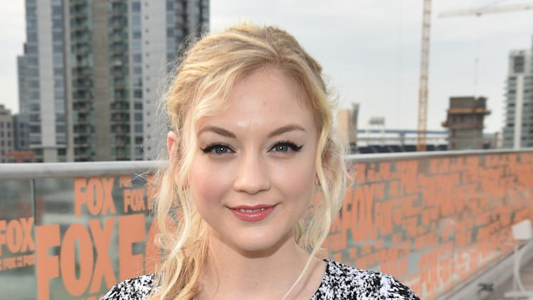 "Emily Kinney attends AMC's ""The Walking Dead"" breakfast on Day 2 of Comic-Con International on Friday, July 25, 2014, in San Diego. (Photo by John Shearer/Invision for AMC/AP Images)"