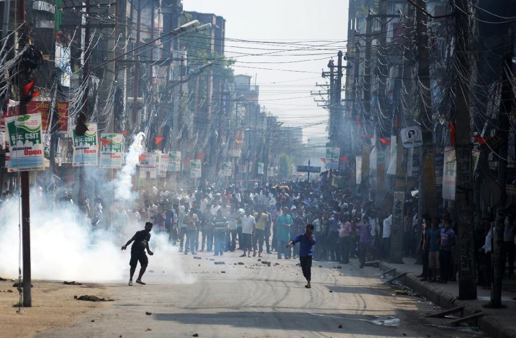 Nepal policeman shot dead in anti-charter protest