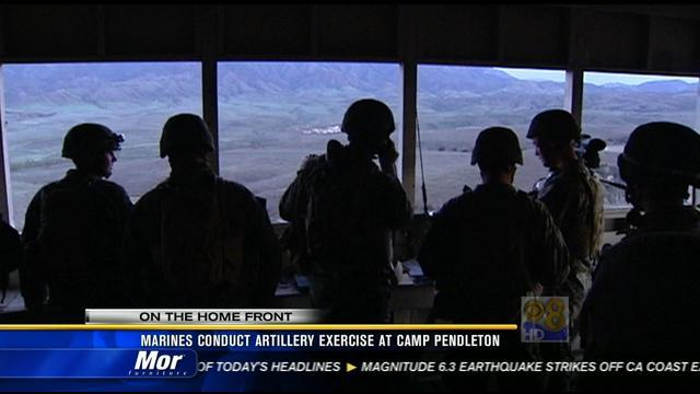 Marines conduct artillery exercise at Camp Pendleton