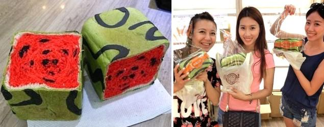 Bread that looks like a watermelon? It's a thing now