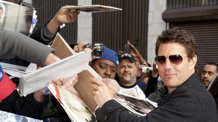 Tom Cruise is all smiles at 'Daily Show with Jon Stewart' taping in NYC