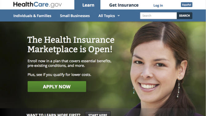 "FILE - In this Friday, Oct. 11, 2013 computer frame grab, the HealthCare.gov website is displayed. The model whose face appeared on the much-maligned Obama health care website says she felt intimidated by harsh public criticism of the program. The woman, who identified herself only as ""Adriana"" in an interview with ABC News, says she was never paid for appearing on the website's home page. (AP Photo/HealthCare.gov)"