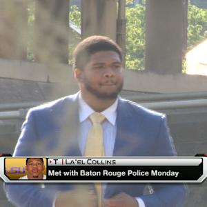 LSU offensive lineman La'el Collins meeting with Miami Dolphins players