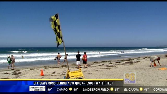 Officials considering new quick-result water test