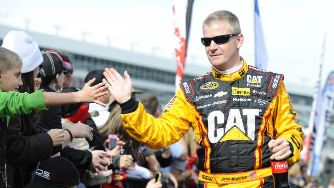 Jeff Burton will race part time in 2014