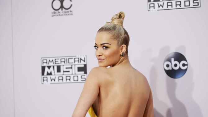 Rita Ora arrives at the 42nd American Music Awards in Los Angeles