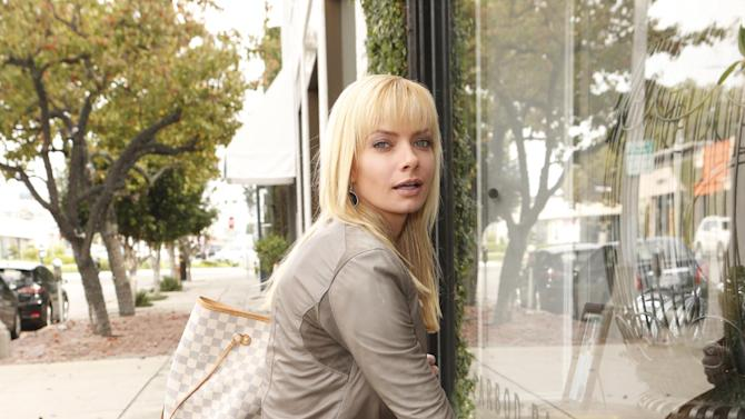 Jaime Pressly shops wearing 1921 Jeans, a YoYo Yeung Jacket, and shoes by Sole Society on Tuesday December 4, 2012 in Los Angeles, California. (Photo by Todd Williamson/AP Images)