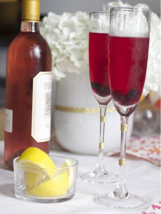 Rose Lemon Champagne Punch Recipe