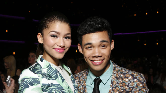 Zendaya Coleman and Roshon Fegan attend the Radio Disney Music Awards at the Nokia Theatre on Saturday, April 27, 2013 in Los Angeles. (Photo by Todd Williamson /Invision/AP)