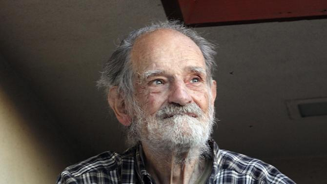 Lloyd Shapley, one of two Americans who were awarded the Nobel economics prize, is photographed at his home in the Pacific Palisades area of Los Angeles Monday, Oct. 15, 2012. Shapley, 89, and Alvin Roth were awarded the Nobel economics prize on Monday, for studies on the match-making that takes place when doctors are coupled up with hospitals, students with schools and human organs with transplant recipients.  The work of Roth and Shapley has sparked a flourishing field of research and helped improve the performance of many markets, the Royal Swedish Academy of Sciences said.  Shapley is a professor emeritus at University of California Los Angeles. (AP Photo/Reed Saxon)