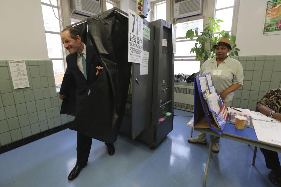 Eliot Spitzer comeback bid fails in NYC primary
