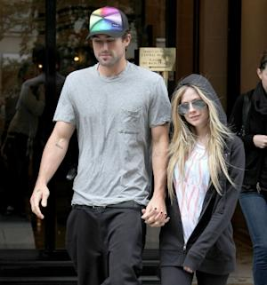 Avril Lavigne and Brody Jenner are sighted leaving their hotel in Paris on September 17, 2011  -- Getty Premium