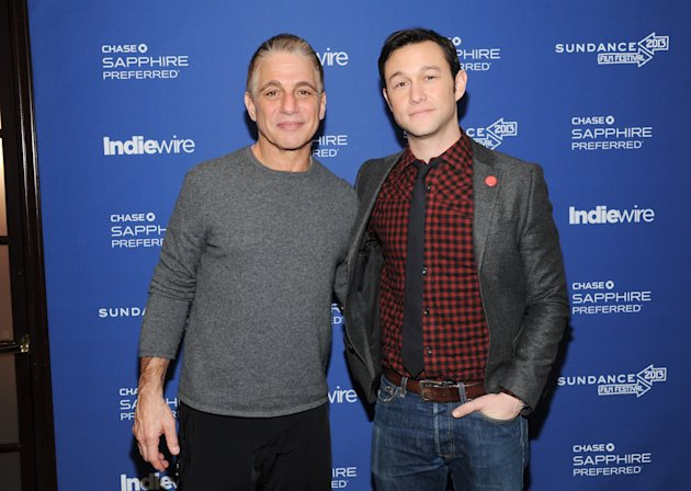 Actor Tony Danza, left, and director, writer and actor Joseph Gordon-Levitt from the film &quot;Don Jon&#39;s Addiction&quot; visit the IndieWire Studio at Chase Sapphire on Main during the Sundance Film Festival on Saturday, Jan. 19, 2013 in Park City, Utah. (Photo: Evan Agostini/Invision for Chase Sapphire/AP Images)