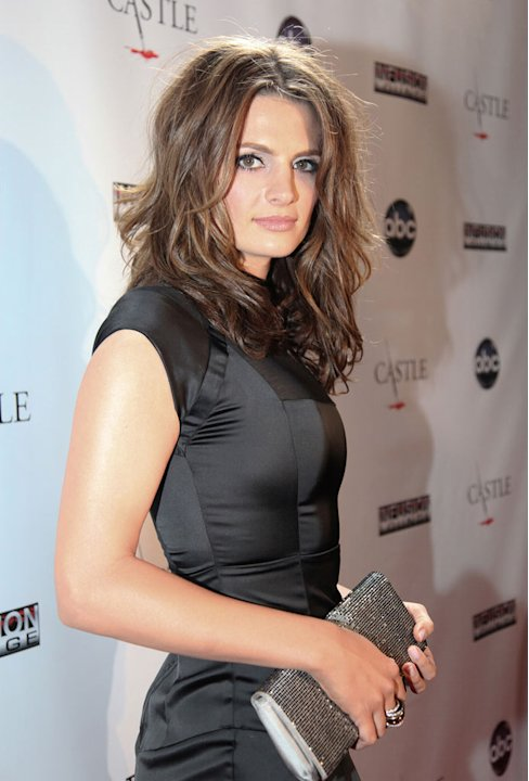 Stana Katic arrives at the &quot;Castle&quot; Season 3 premiere party on September 13, 2010, in Los Angeles. 