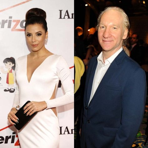 Eva Longoria and Bill Maher  -- Getty Images