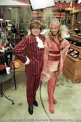 Mike Myers and Beyonce Knowles in New Line's Austin Powers in Goldmember