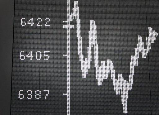 <p>A display showing the German stock market index DAX in Frankfurt, June 2012. An issue of German benchmark 10-year bonds attracted low demand as investors held back in a volatile environment pending key decisions from policymakers.</p>