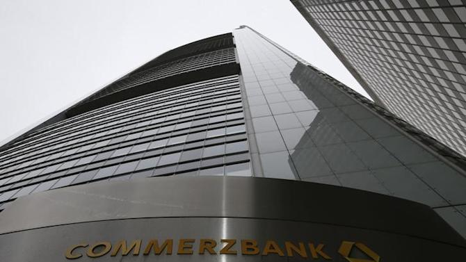 The headquarters of the Commerzbank AG is pictured before the bank's annual news conference in Frankfurt