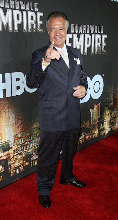 "Tony Sirico attends the premiere of ""Boardwalk Empire"" at the Ziegfeld Theatre on September 15, 2010, in New York City."