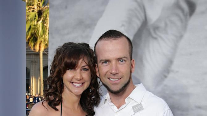 Lucas black and maggie o brien at the los angeles premiere of warner