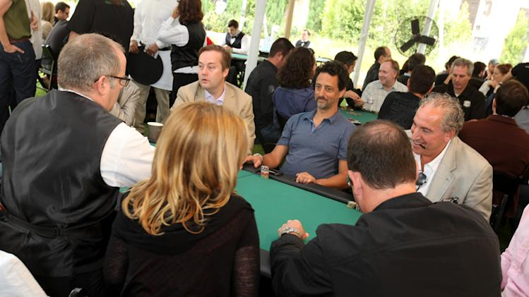 Grant Heslov,second from right, plays poker at Playing For Good Benefitting the Geffen Playhouse and Determined to Succeed on Saturday May 12, 2012 in Santa Monica, Calif. (Casey Rodgers/AP Images for Geffen Playhouse )