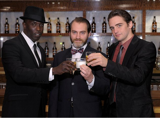 "Michael K. Williams, Michael Stuhlbarg, and Vincent Piazza attend HBO's ""Boardwalk Empire"" Series Premiere party in AC at Caesars Atlantic City on September 16, 2010, in Atlantic City, New Jersey."