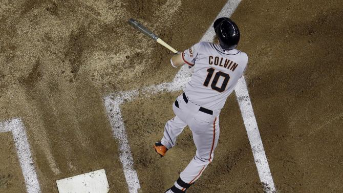 Colvin's 3 RBIs help Giants snap 6-game skid