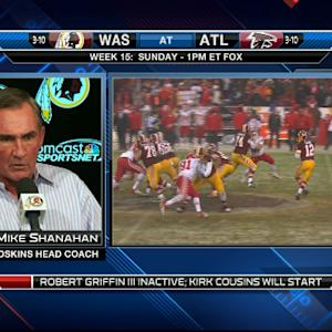 Washington Redskins head coach Mike Shanahan: If RGIII had gotten hurt, I'd be sick to death