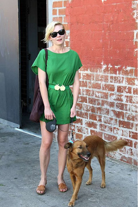 Dunst Kirsten With Dog